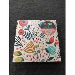 Relax puzzle rund 500 brikker, blomster