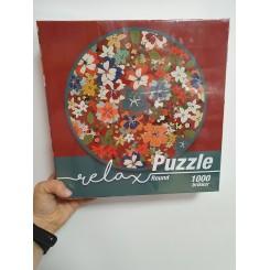 Relax puzzle rund 1000 brikker, flora