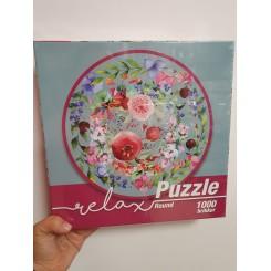 Relax puzzle rund 1000 brikker, granatæble