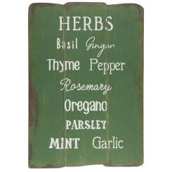 Træskilt Herbs