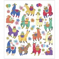 Stickers, ark 15x16,5 cm, ca. 30 stk., lamaer, 1ark