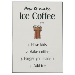 Metalskilt - How to make Ice Coffee