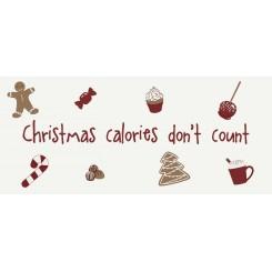 Metalskilt - Christmas calories
