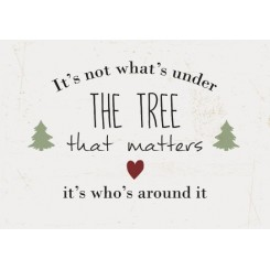 Metalskilt - It's not what's under the tree that matters