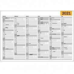 Vægkalender whiteboard inkl. tusch, A2 2021