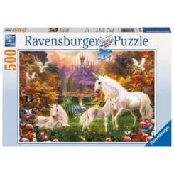 Ravensburger Puzzle, Magical Unicorns, 500 brikker