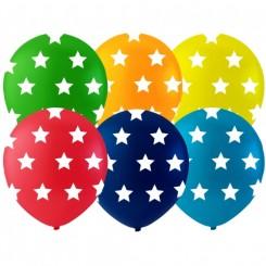 Balloner med stjerner Ø26 cm