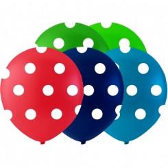 Balloner med prikker Ø26 cm