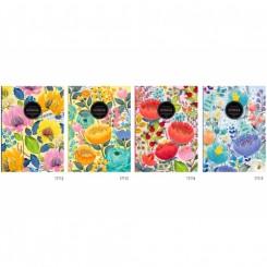 FRESH Notesbog A5 Flower ulinieret