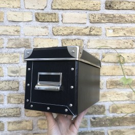 Kartoteksæske 27x14 cm, sort
