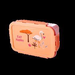 Rice stor flamingo madkasse - Jungle Animals Print Koral