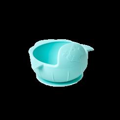 Rice silikone børneskål, lyseblå