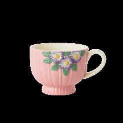 Rice Keramik Krus, pink