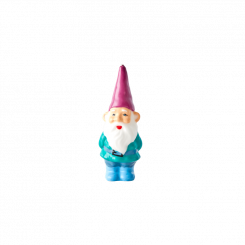 Rice Stearinlys Gnome, pink hat