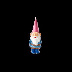 Rice Stearinlys Gnome, lyserød hat