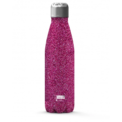 JobOut Drikkedunk 500 ml, GLITTER, pink