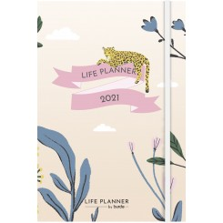 Life Planner A5, 2021, leopard
