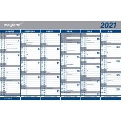 Mayland Dobbelt halvårskalender, 2021
