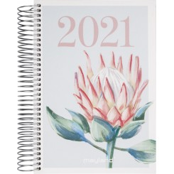 Dagskalender spiralryg A5 2021, protea