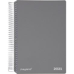 Ugekalender spiralryg grå, 2021