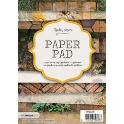Blok med mønstret papir, 36 ark, træ