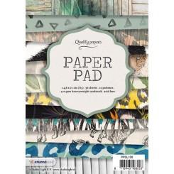 Blok med mønstret papir, 36 ark, dyremotiver