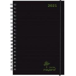 Mayland Eco line ugekalender A5 2021, sort