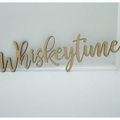 Træ skilt - Whiskeytime