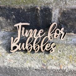 Mini træ skilt - Time for bubbles