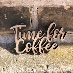 Mini træ skilt - Time for coffee
