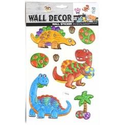 3D klistermærker til væggen, Dinosaur