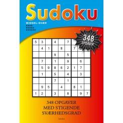 Sudoku, Middel-svær, 6 stjerner