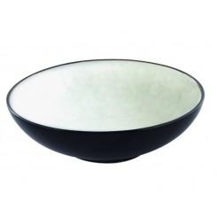 Stentøjsskål Ø19 cm - Hvid/sort