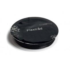 Flextråd, tykkelse 0,5 mm, rund, 15m, sort