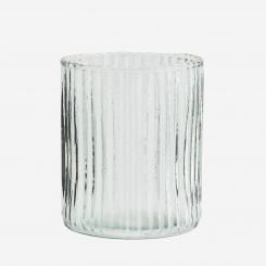 Drikkeglas med riller