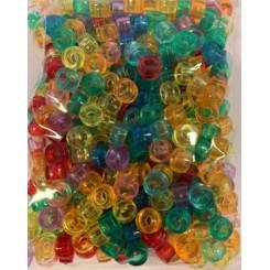 Plastik perler Ø:4x7mm, transperant