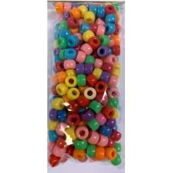 Plastik perler Ø:6x9mm