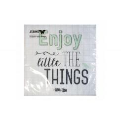 Servietter 25x25cm, 3 lags, Enjoy the little things