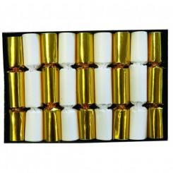 Knallerter, 11cm. 9 stk. guld/hvid