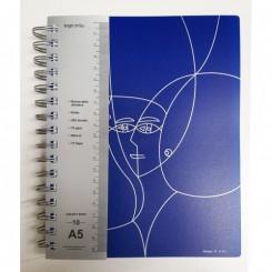 Notesbog, Subject Book A5 - 10-delt