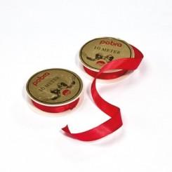 Silkebånd, 15mm x 10m, rød