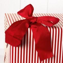 Silkebånd, 50mm x 10m, rød