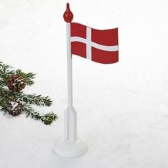 Flagstang, med dansk flag, træ, 37cm, 1 stk.