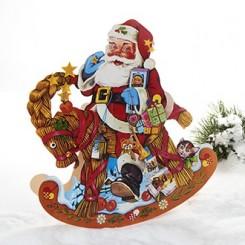 Julekalender, julemand på gyngehest
