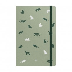Notebook Deluxe B5, green panther