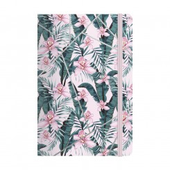 Notebook Deluxe A5, pink jungle