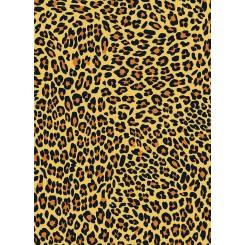 Notesbog A5, linieret, leopard