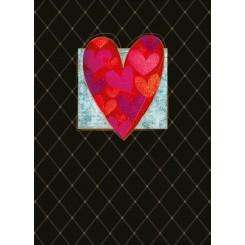 Notesbog A5, linieret, hjerte