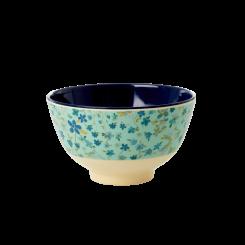 Lille Melamin Skål - Blue Floral Print