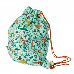 Bomuld Gymnastikpose - Jungle Animals Print